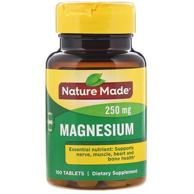 Nature Made Магний, 250 мг, 100 таблеток