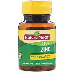 Nature Made, Цинк, 30 мг, 100 таблеток