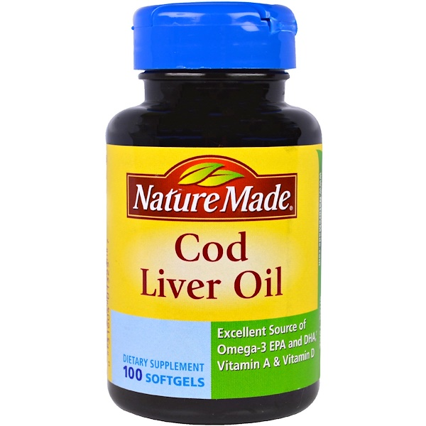 Nature Made, Cod Liver Oil, 100 Softgels (Discontinued Item)