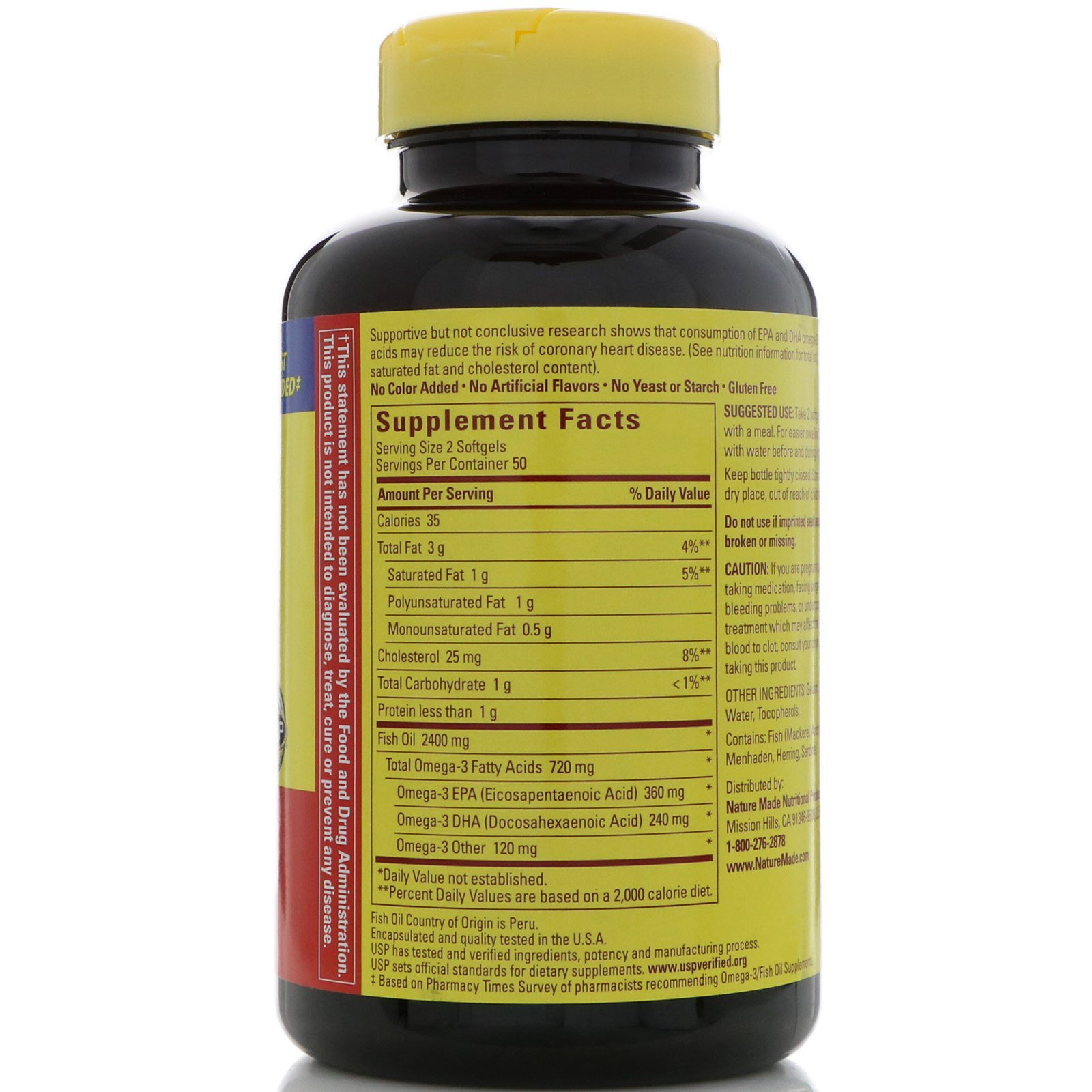 Nature made fish oil 1200 mg 100 softgels for Nature made fish oil