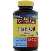 Рыбий жир, 1200 мг, 100 мягких таблеток - фото