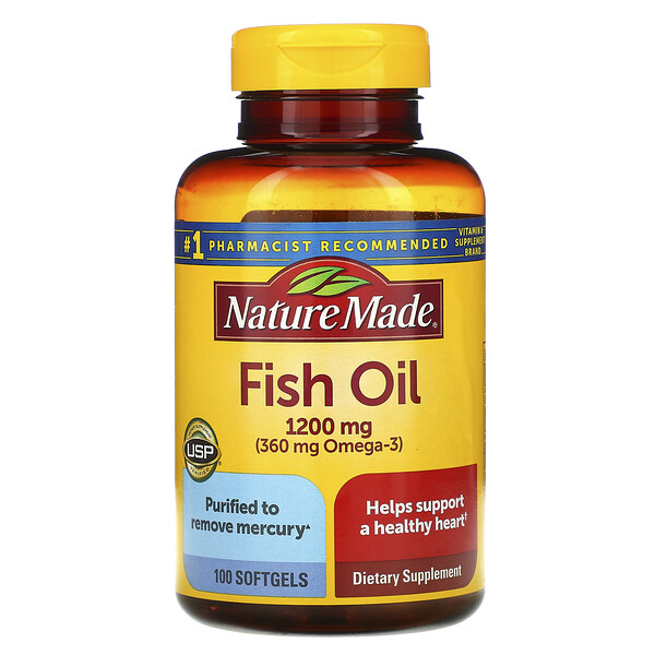 Nature Made, Fish Oil, 1,200 mg, 100 Softgels