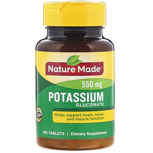 Натуре Маде, Potassium Gluconate, 550 mg, 100 Tablets отзывы покупателей