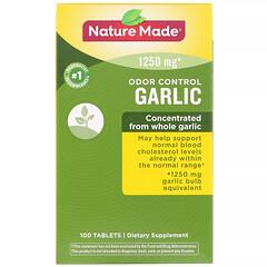 Nature Made, Odor Control, Garlic, 1250 mg, 100 Tablets