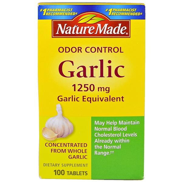 Nature Made, Чеснок без запаха, 1250 мг, 100 таблеток