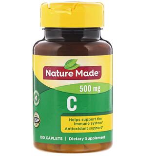 Nature Made, Vitamin C, 500 mg, 100 Caplets