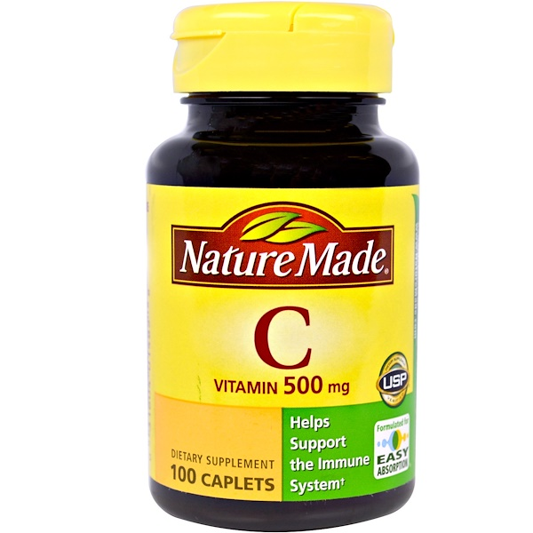 Nature Made, Vitamin C, 100 Caplets