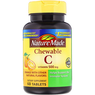 Nature Made, Chewable Vitamin C, 500 mg, 60 Tablets