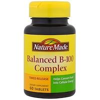 Сбалансированный комплекс витаминов В-100  (Balanced B-100 Complex), 60 таблеток - фото