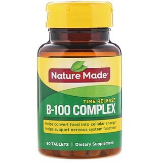 Nature Made, B-100 Complex, Time Release, 60 Tablets
