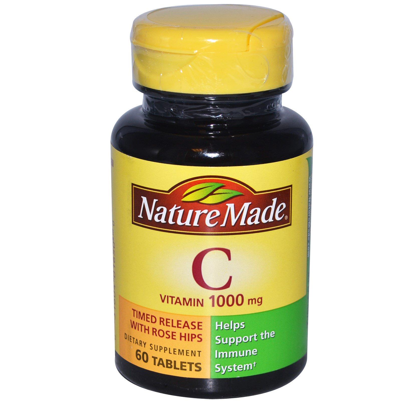 Nature Made, Витамин C, 1000 мг, 60 таблеток