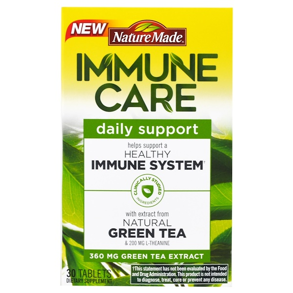 Nature Made, Immune Care, Daily Support, Green Tea Extract, 30 Tablets