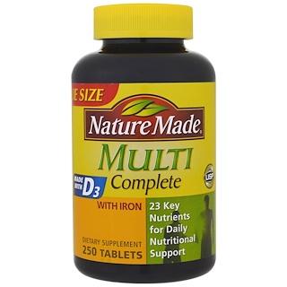 Nature Made, Мультивитамины Полный комплект, С железом, 250 таблеток