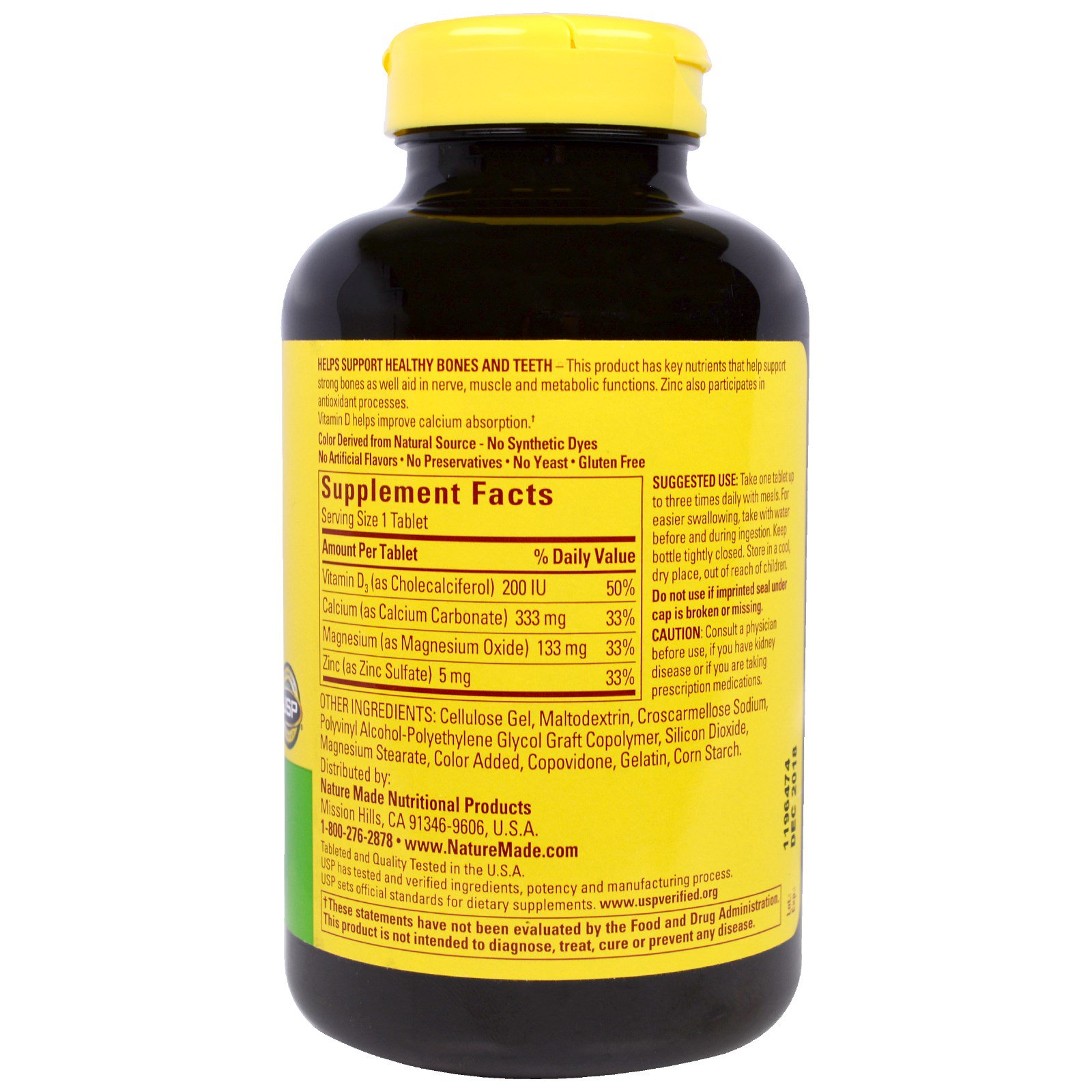 Nature Made Calcium Magnesium Zinc With D3 300 Tablets