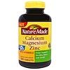 Nature Made, الكالسيوم و المغنيسيوم والزنك مع  فيتامينD3، و 300 قرص