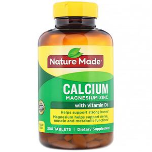 Натуре Маде, Calcium Magnesium Zinc with Vitamin D3, 300 Tablets отзывы покупателей