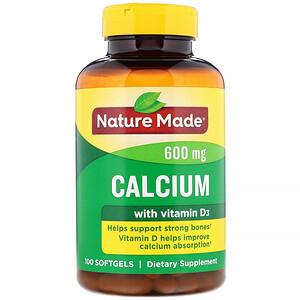 Натуре Маде, Calcium with Vitamin D3, 600 mg, 100 Softgels отзывы покупателей