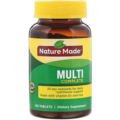 Multi Complete, комплекс мультивитаминов, 130таблеток