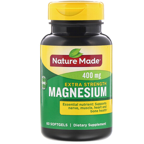 Nature Made, Magnesium, Extra Strength, 400 mg, 60 Softgels