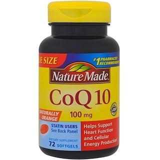 Nature Made, CoQ10, Naturally Orange , 100 mg , 72 Softgels