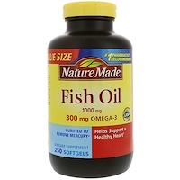 Fish Oil, 1,000 mg, 250 Softgels - фото