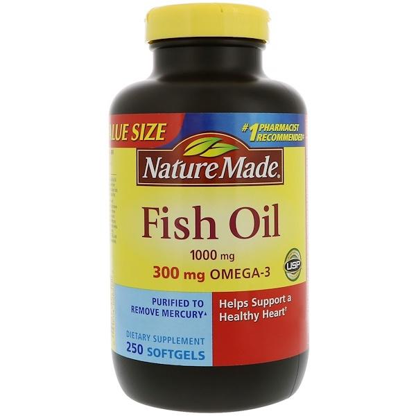 Nature Made, Fish Oil, 1,000 mg, 250 Softgels