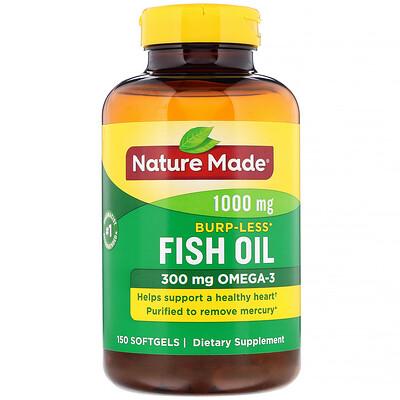 Фото - Fish Oil, Burp-Less, 1,000 mg, 150 Softgels fish oil reflux free 1 000 mg 180 enteric coated softgels