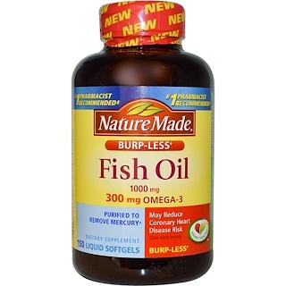 Nature Made, Fish Oil, Omega-3, 1000 mg, 150 Liquid Softgels