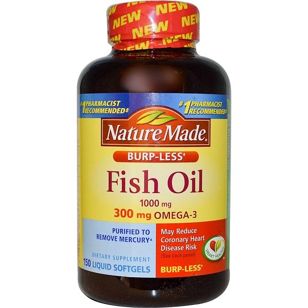 Nature Made, 歐米茄-3魚油液體膠囊,1000毫克,150粒