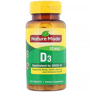Натуре Маде, Vitamin D3, 50 mcg, 100 Tablets отзывы покупателей