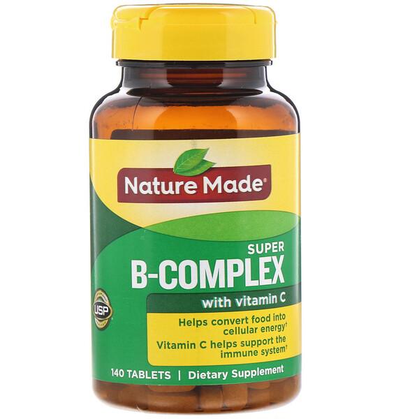Nature Made, فيتامينات مركب-ب مع فيتامين سي، 140 قرص