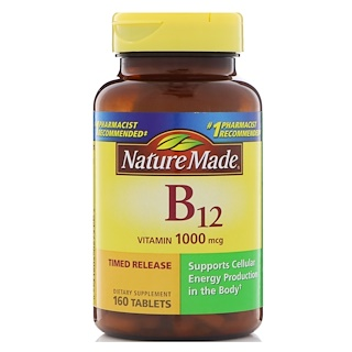 Nature Made, B-12 Vitamin, 1000 mcg, 160 Tablets