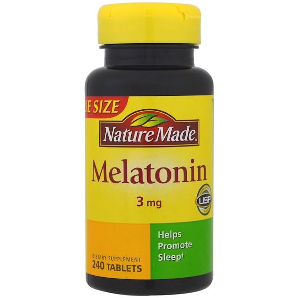 Nature Made, Melatonin, 3 mg, 240 Tablets
