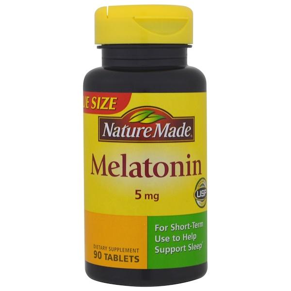 Nature Made, 褪黑激素,5 毫克,90 片片劑