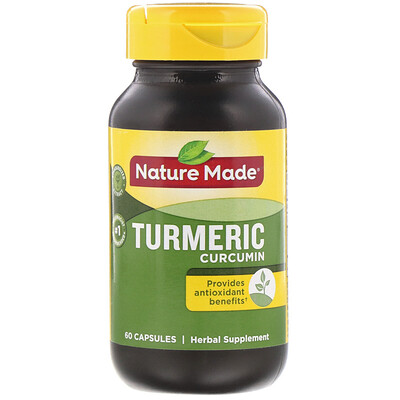Nature Made Куркума и куркумин, 60капсул