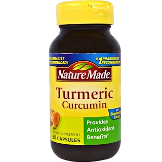 Nature Made, Turmeric Curcumin, 60 Capsules