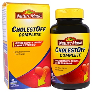 Nature Made, CholestOff Completo, 120 cápsulas de gel