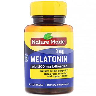 Nature Made, Melatonin, 3 mg, 60 Softgels