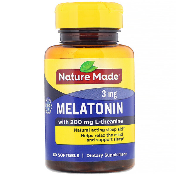 Melatonin, 3 mg, 60 Softgels