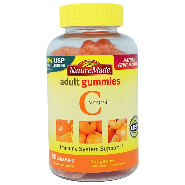 Nature Made, Vitamin C Adult Gummies, Tangerine, 80 Gummies