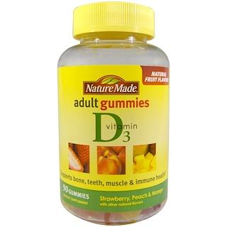 Nature Made, 성인용 젤리, 비타민 D3, 90 개