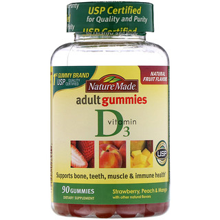 Nature Made, Adult Gummies, Vitamin D3, 90 Gummies