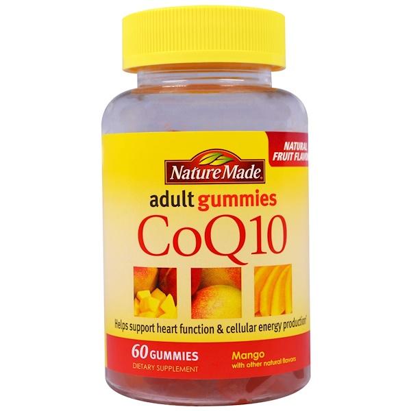 Nature Made, CoQ10 Adult Gummies, Mango, 60 Gummies