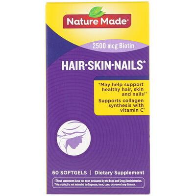 Добавка для здоровья волос, кожи и ногтей, 60мягких таблеток