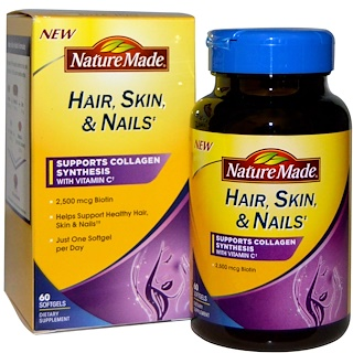 Nature Made, Hair, Skin, & Nails, 60 Softgels