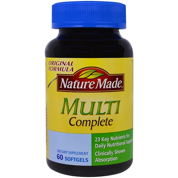 Nature Made, マルチコンプリート, 60錠 (ソフトジェル)