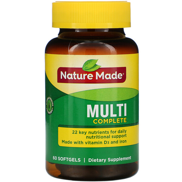 Nature Made, Multi Complete, 60 Softgels
