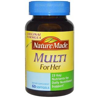Nature Made, 女性用マルチ、60ソフトジェル