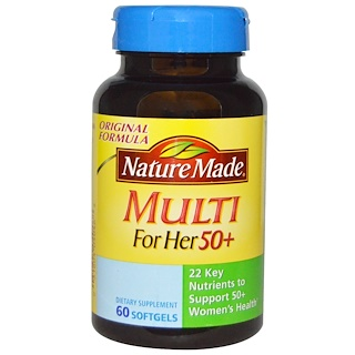 Nature Made, Multi for Her 50+, 60 Softgels