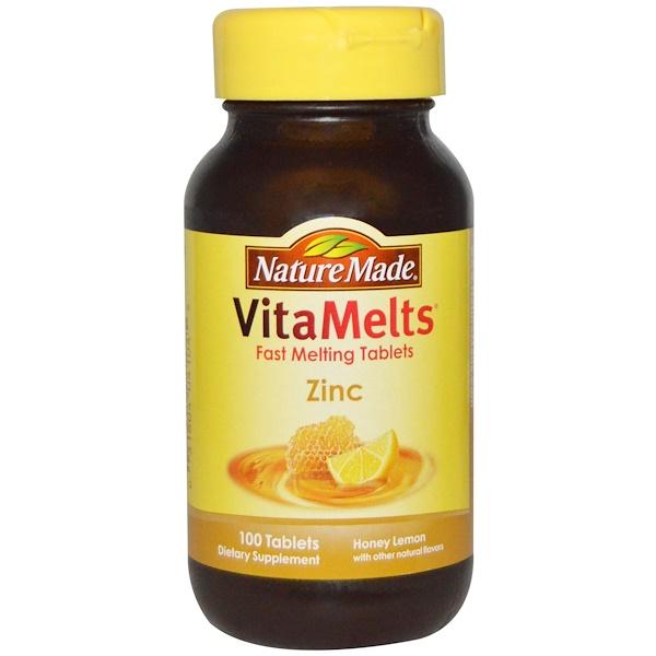 Nature Made, VitaMelts, Zinc, Honey Lemon, 100 Tablets (Discontinued Item)